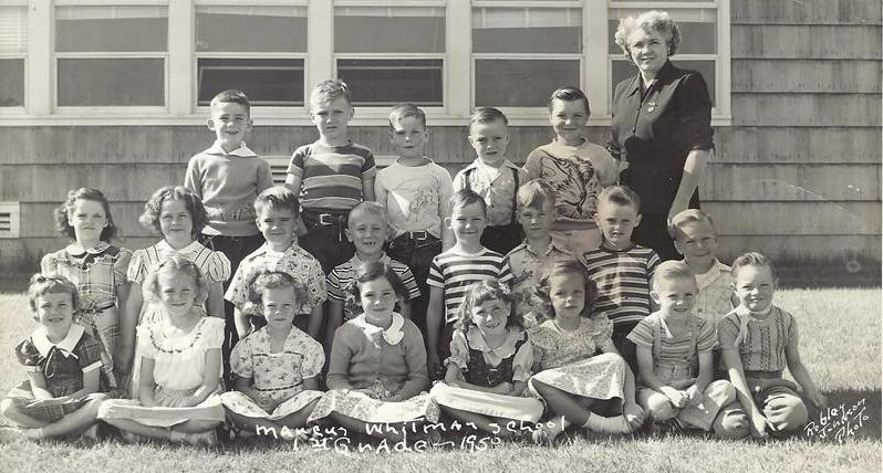 Marcus Whitman first grade 1950
