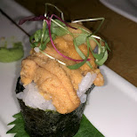 uni sushi at Saku sushi toronto in Toronto, Ontario, Canada