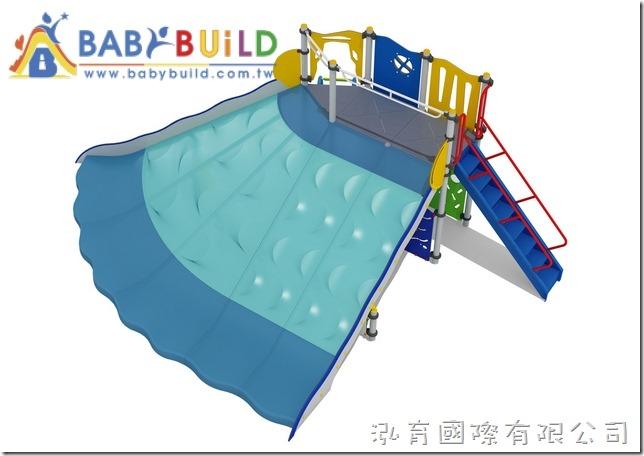 BabyBuild大面積斜面挑戰滑梯