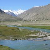 Jawshangoz (Pamir) : la route vers Khorog, 3450 m. 12 juillet 2009. Photo : Jean-François Charmeux