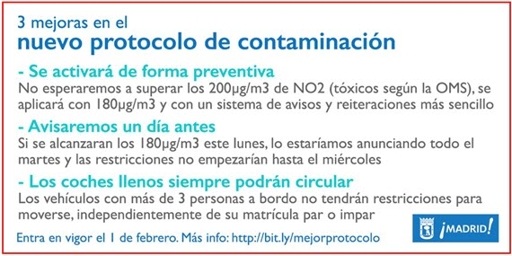 Nuevo Protocolo para Episodios de Alta Contaminación por NO2 - febrero 2016