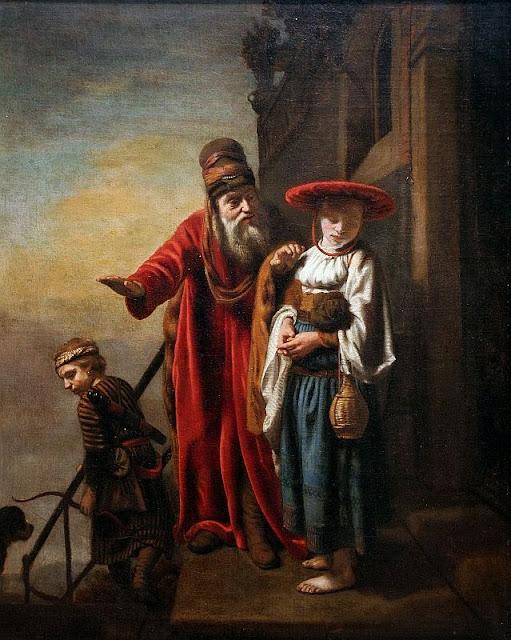 Nicolaes Maes - Abraham Dismissing Hagar and Ishmael, 1653