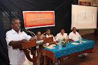Sri Karunakara Ananthapura (Secretary, Sri Ananthapadmanabha Swamy Seva Samithi, Annathapura) briefing about the programme