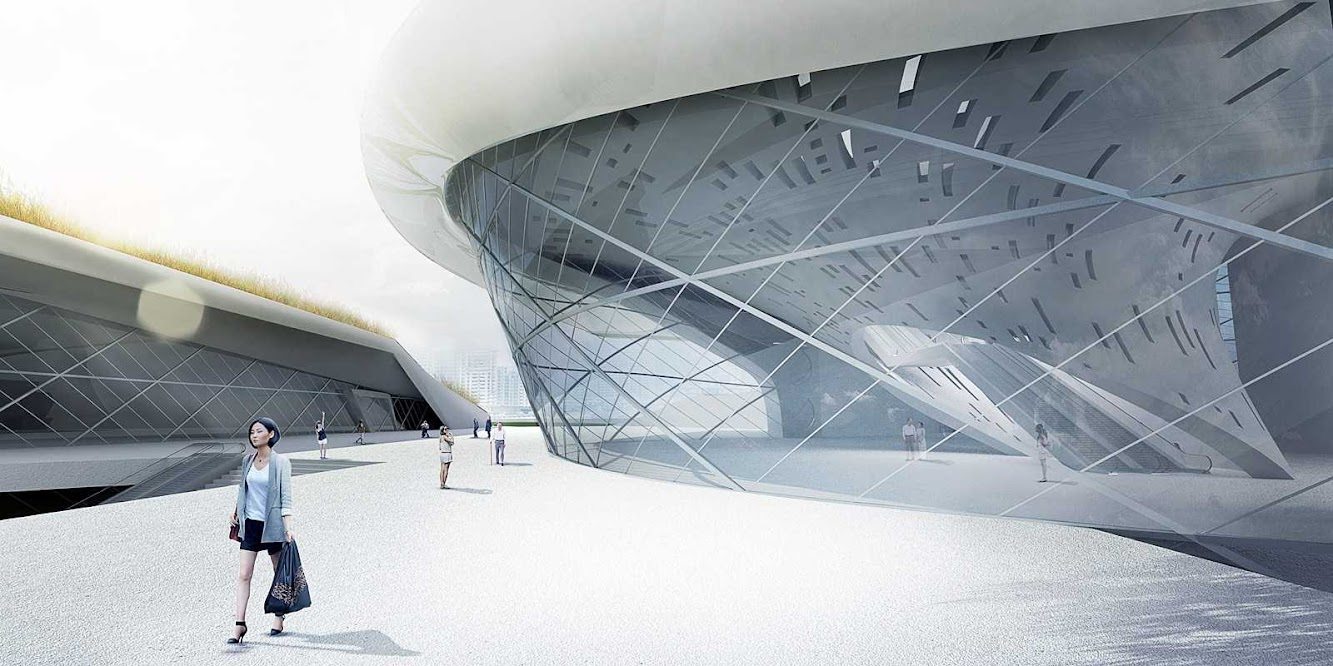 Taichung City Cultural Center Entry by Tighe Architecture