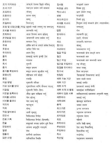 5000 Korean Words in Nepali