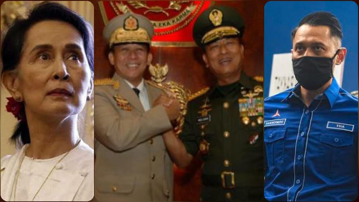 Moeldoko Mengkudeta AHY, Min Aung Hlaing Mengkudeta Suu Kyi