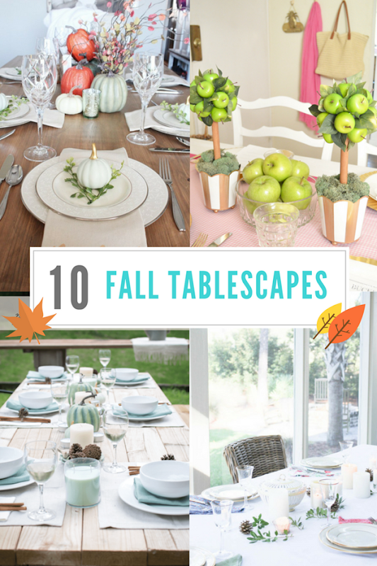 Fall Tablescapes at GingerSnapCrafts.com #fall #tablescapes