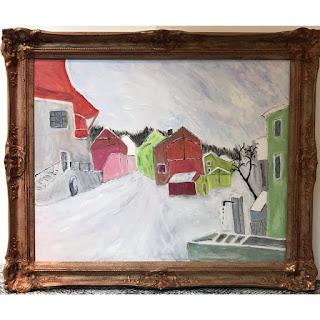 Acrylic Winter Scene Painting