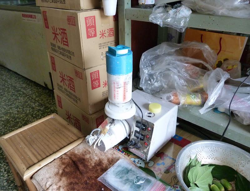 Distributeur automatique de chaux pour les feuilles de Bin lang