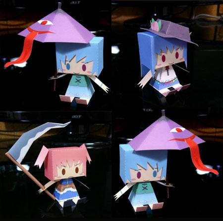 Touhou Project Graphig Komachi Tenshi Kogasa Paper Toys
