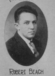 BEACH_Robert_Headshot from Yrbook_1931_DetroitMI_B&W