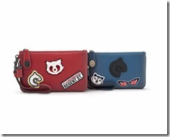 Coach - 57638 - Regent Street Exclusive - Varsity Patches Turnlock Wristlet 21, blue & red-235GBP