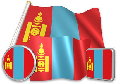 Mongolian flag animated gif collection