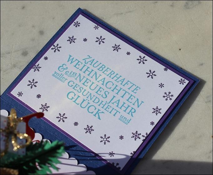 Explosion Box Weihnachten Christmas Santas Sleigh Stampin Up Weihnachtsschlitten Silent Night 04