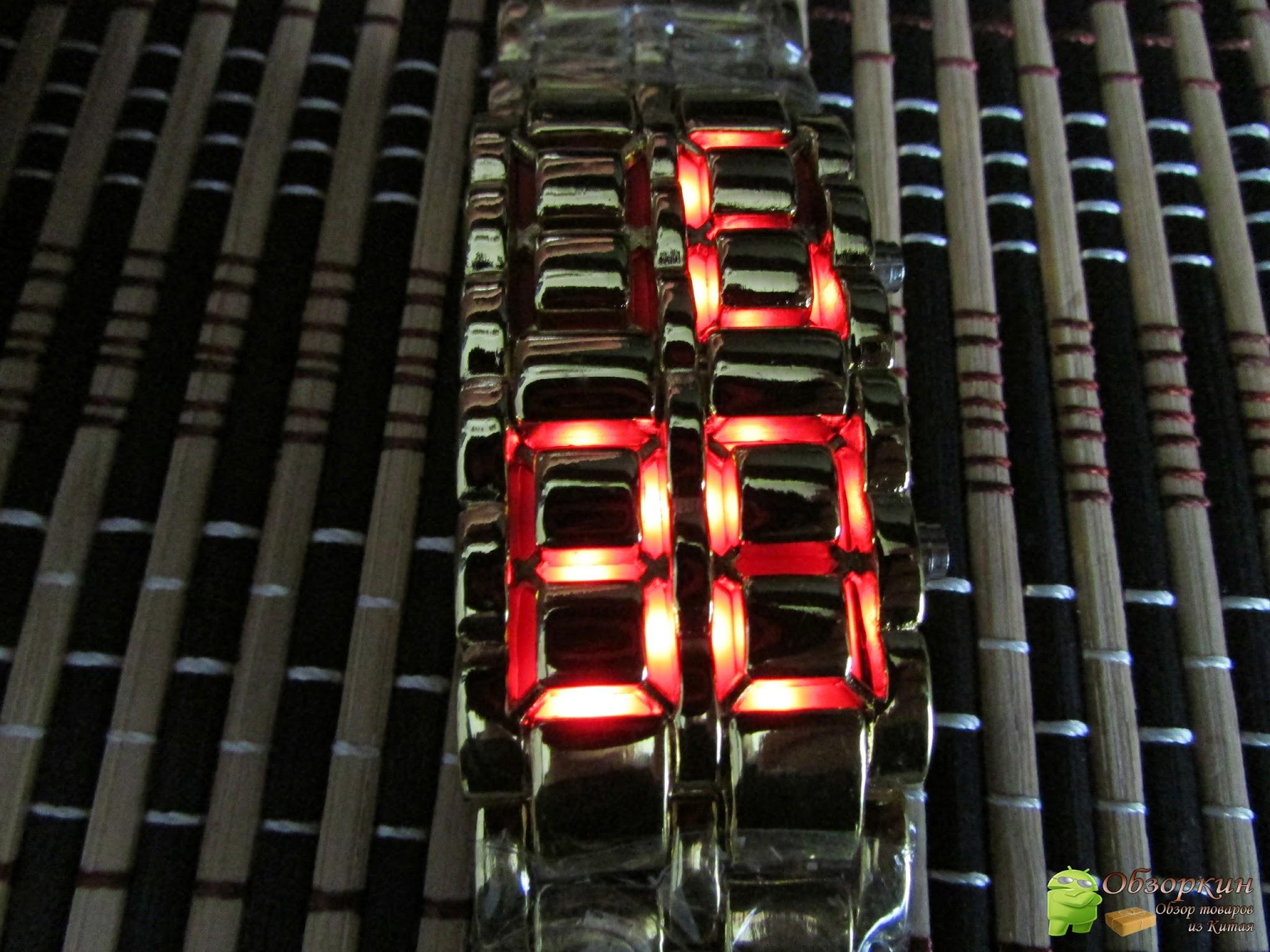 LED часы Iron Samurai Gold