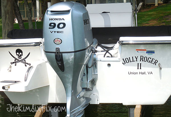 Easy DIY Boat Personalization Transom Decals The Kim Six Fix - Boat decals amazon   easy removal