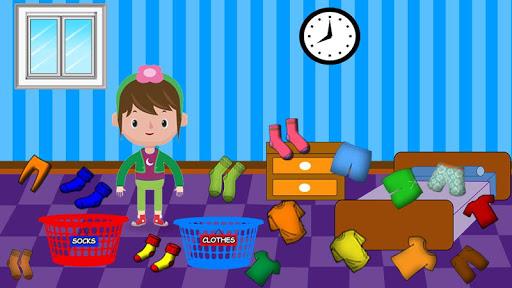 Code Triche Laver et repasser le linge: enfants jeu de lessive APK MOD screenshots 2