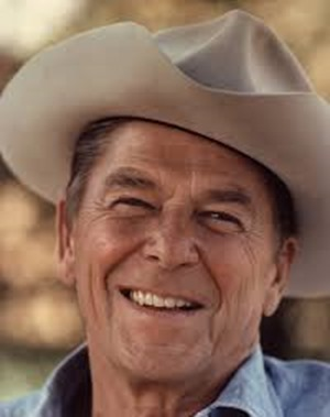 ronald reagan white cowboy hat