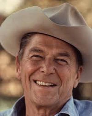 ronald reagan white cowboy hat