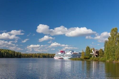 Russia river cruise boat Mandrogi island 2