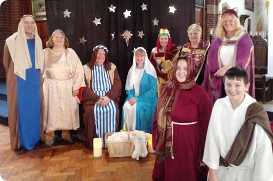 Experience Christmas - the cast in the live telling of the Christmas Story