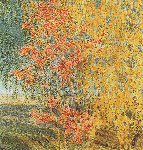 Igor Grabar - Autumn, Rowan Tree and Birches