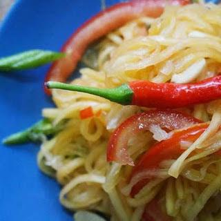 Thai Som Tum Recipe (Thai Green Papaya Salad)