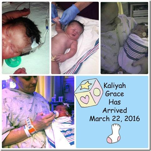 Kaliyah's first day