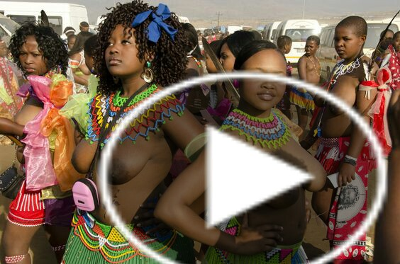 See How South Africa Dress Nakedly on Weeding Ceremony