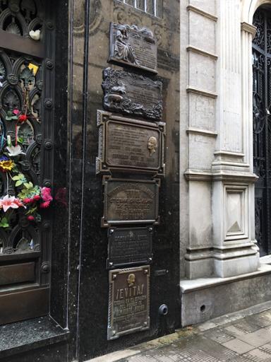 Buenos Aires. Ricoleta Cemetary. Tomb of Eva Peron