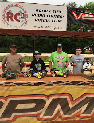 1:8 Nitro Buggy - 1st: Tyler Parrish, 2nd: Steven Froghorn, 3rd: Repo Southern, TQ: Hunter Cupp