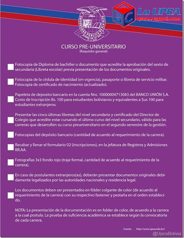 Preuniversitario UPEA 2017