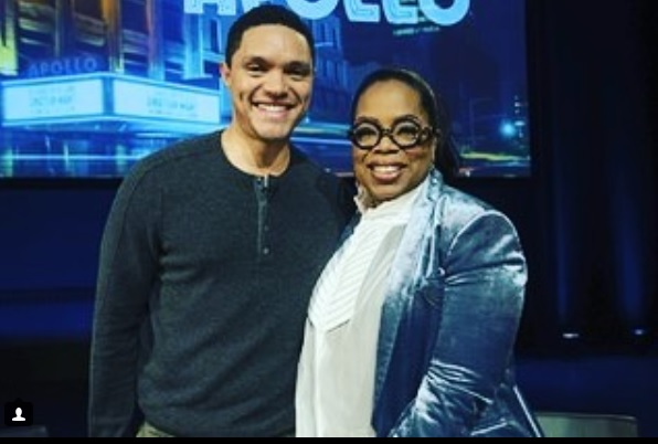 Trevor Noah and Oprah Winfrey.