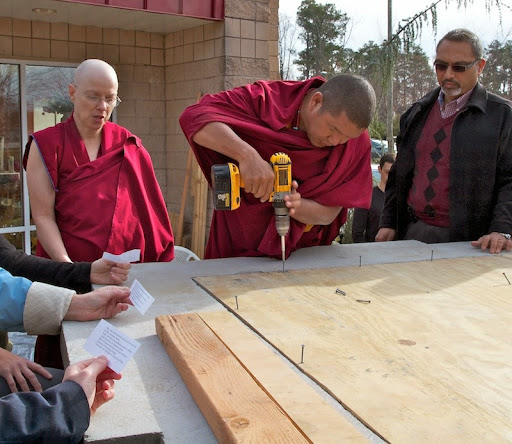 Geshe Gelek was involved in all aspects of building this amazing stupa.