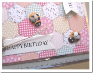 Bee Birthday Card. Wooden Bee Embellishments