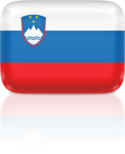 Slovenian flag clipart rectangular