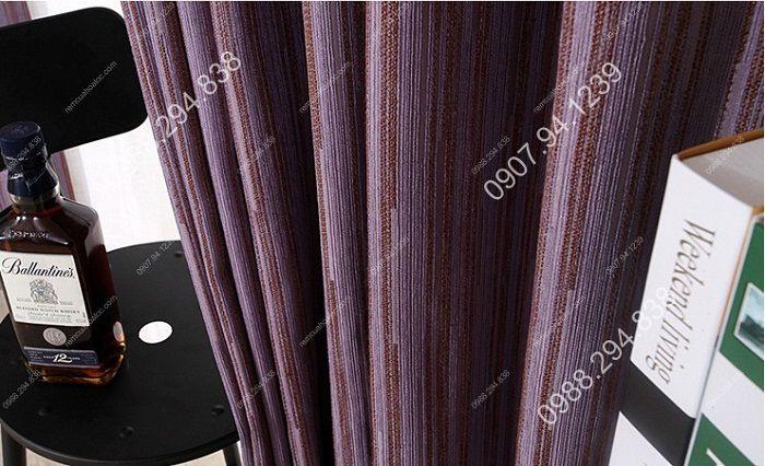 Rèm cửa đẹp hà nội cao cấp một màu nhung nỉ kẻ  10