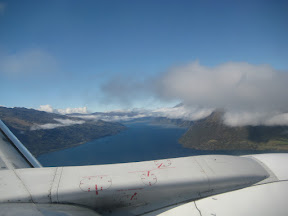 Flying into Queenstown over Lake Wakatipu