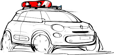 Fiat 500L Design Sketch