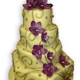 25. kép: Esküvői torták - Menyasszonyi torta orchideával