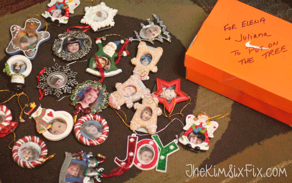 Photo ornaments for every year
