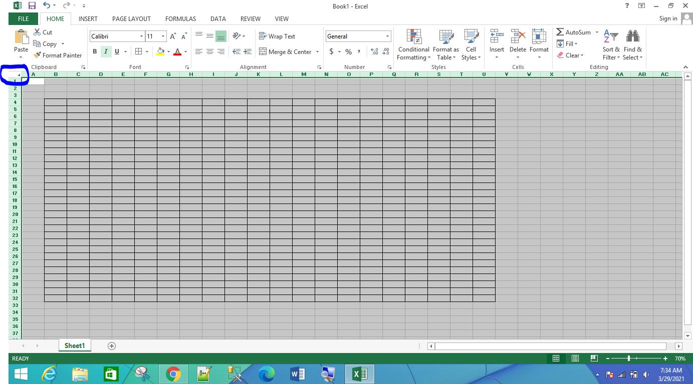 Cara memindahkan tabel dari excel to word