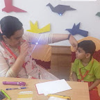Eye Check-up of Sr Kg Section at Witty World, Chikoowadi (2018-19)