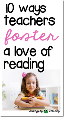 foster a love of reading