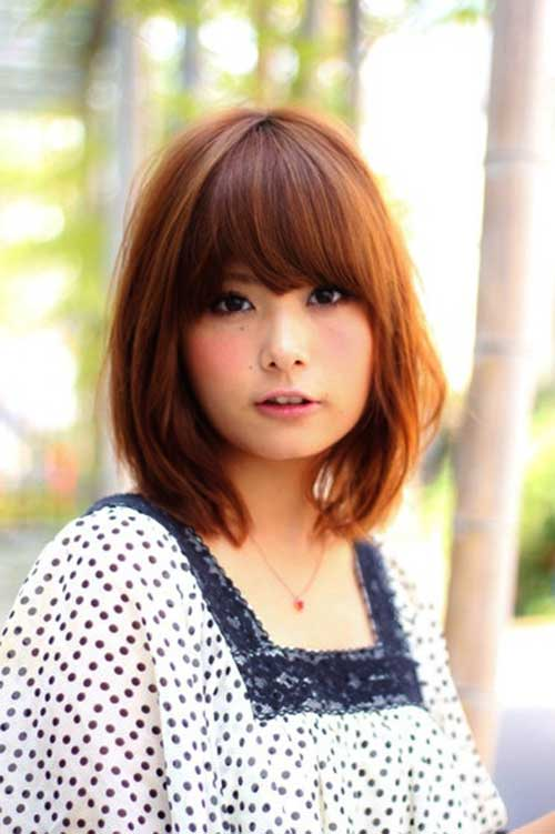 Japanese Messy Bob with Bangs Hairstyle - Fashion Xe