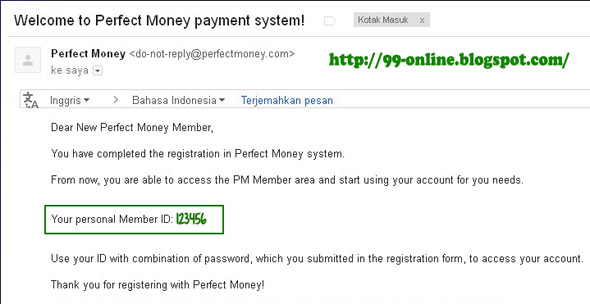 cara daftar perfect money 5
