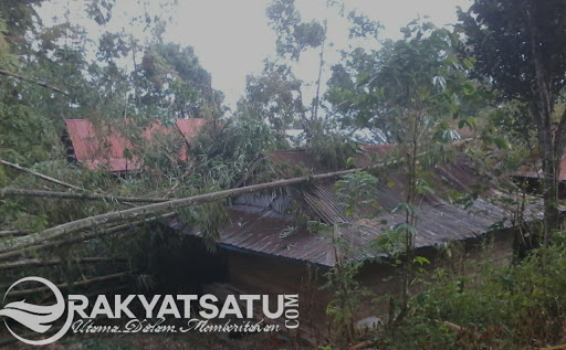 Waspada! Angin Puting Beliung Mengamuk di Gandasil, Dua Orang Terluka Parah