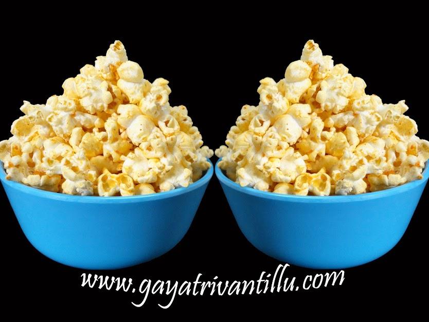 Masala Popcorn - మసాలా పాప్ కారన్ -  Andhra Recipes Telugu Vantalu -   http://www.gayatrivantillu.com/recipes-2/chat-fast-food-corner/masala-popcorn  http://www.gayatrivantillumobile.com/masala-popcorn.html