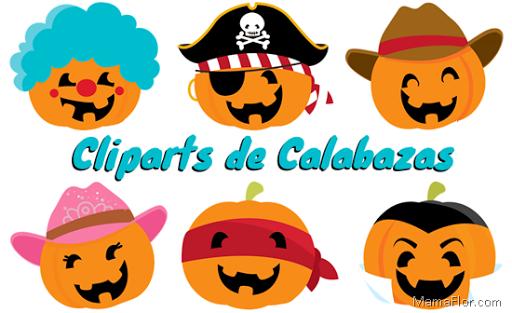 Cliparts PNG Calabazas Halloween