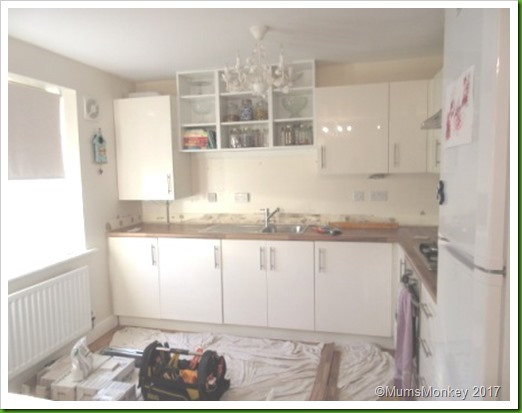 kitchen before tiling